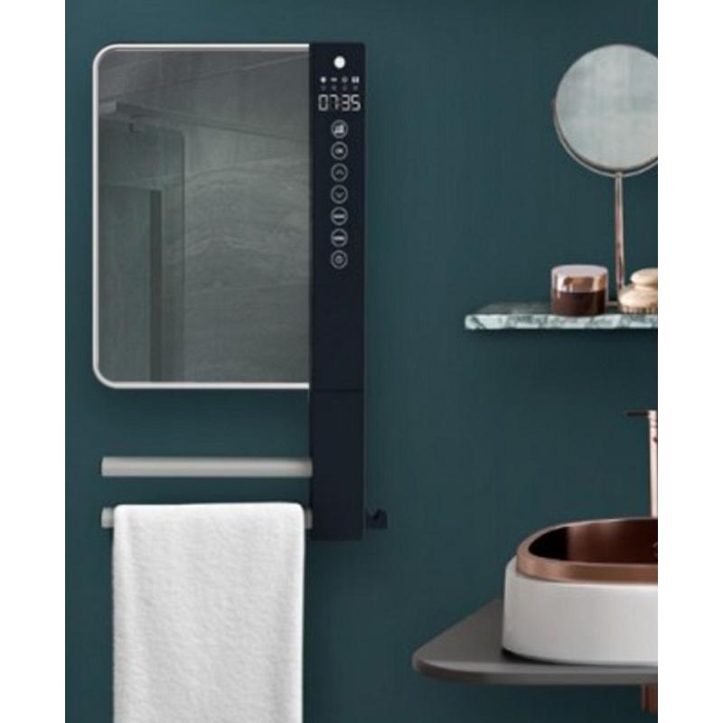 Radialight WINDY VISIO fürdőszobai fűtő ventilátor tükörrel és törülköző tartóval (1800 W)